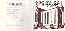 ST. ANNEN, Festschrift 1969, 450 Jahre St. Annen-Kirche Fest-Woche Musik Feier