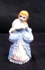 Vintage Gold Guild Porcelain Lady Figurine w/fan JAPAN Inscribed #F918