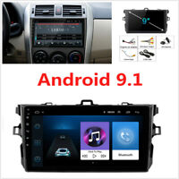 9'' Android 9.1 2GB+32GB Car Stereo Radio WIFI GPS Nav For Toyota Corolla 06-12