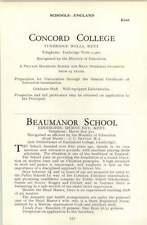 1964 School Beaumanor, Herne Bay, Concord Coll Betton, J C