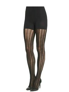 Spanx Case In Pointelle Black Shaping Tights  Size D NIP $32 Shaping