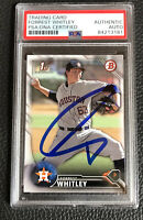Forrest Whitley SIGNED 2016 1st Bowman Astros Autographed Auto Card PSA DNA COA