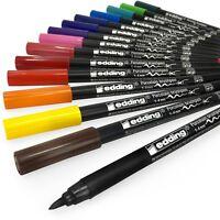 Edding 4200 Porcelain Brush Pen – 1-4mm – Pack of 3 - 15 Colours Available