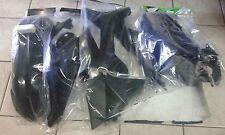 KIT PLASTICHE KTM EXC 2T 125 250 300 2012 2013 12 13 KIT 5 PZ COLORE NERO