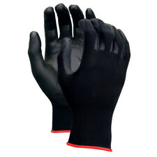 Work Safety Polyurethane Coated Nylon Work Gloves 380-5 (1/ 6 /12 Pairs)