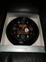 New In Box Red Neon Texas Hold'em Poker Wall Clock