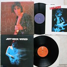 Jeff Beck with Jan Hammer Group ‎– Live LP & Jeff Beck Wired LP Epic ‎EPC 86012