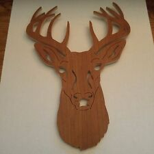 "New Handmade wooden deer plaque 8 1/2"" high X 6"" wide made by John Burkholder"