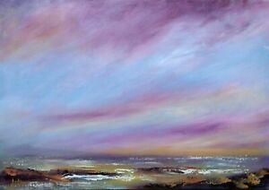 """Original Seascape Coastal Impressionist Painting. Oil on Canvas 16"""" x 12"""".."""