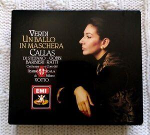 VERDI - UN BALLO IN MASCHERA CALLAS – DI STEFANO-CD, 2-DISC BOX SET- LIKE NEW