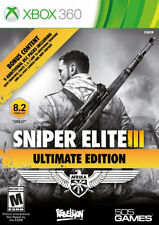 Sniper Elite III: Ultimate Edition Xbox 360 New Xbox 360, Xbox 360