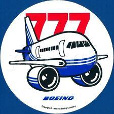 @1993 BOEING LOGO 777 JET AIRLINER BLUE LIVERY STICKER