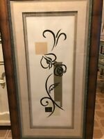 """Liz Jardine Orchid Impressions Painting Hand Pencil Signed-Large 30"""" x 55"""" Frame"""