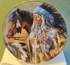 native American Franklin Mint Pride of The Sioux Plate  Paul Calle #LB5742 OB
