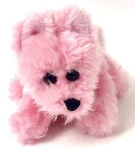 "Build-A-Bear Workshop Mini Pink Dog Magnet Bandanna 7"" BABW Plush"