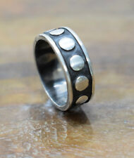 Ring Sterling Silver Dot Band Ring