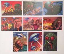 2016 Cult Stuff ILLUSTRATED WAR OF THE WORLDS  9 Card David Day Art Gloss Set