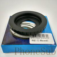 M42 / C Mount Movie Lens to Micro 4/3 M43 Mount Adapter Dual Purpose M42/C-M43