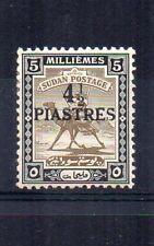 More details for sudan 1941 4 1/2p on 5m surcharge mlh