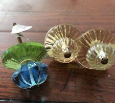 3 Anthropologie Glass Pinwheel Knobs Mismatched