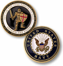 U.S. Navy / Armor of God - USN Brass Challenge Coin