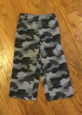 JUMPING BEANS TODDLER BOY BLACK & GRAY CAMOUFLAGE PANTS SIZE 3T NEW