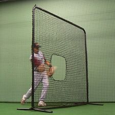 7'x7' Commercial Softball Pitcher's Protective Frame w/#36 P.E. Pillow Style Net
