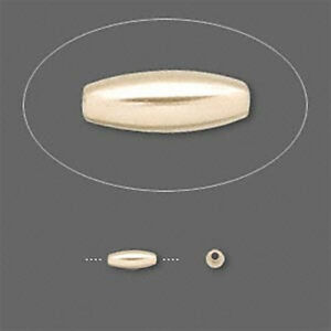 2.5mm x 6.5mm Gold Filled Oval Rice Beads (10)