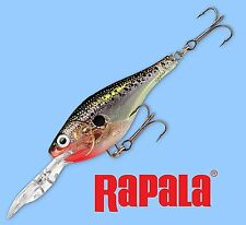 Rapala Glass Black Shad Shad Rap Rattling Fishing Lure