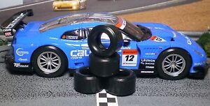 1/32 URETHANE SLOT CAR TIRES 2pr PGT-21126XXD fit CARRERA Nissan GT-R GT500