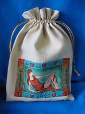 "TAROT CARD BAG -VIRGO- YELLOW SILK-5 1/2"" x 7"""