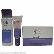 Belo Essentials AcnePro Pimple Treatment System Soap Toner and Gel Kit Heals