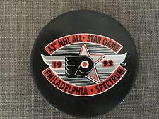 1992 Philadelphia Flyers NHL All-Star Game Souvenir Puck In Glas Co