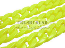 Yellow Green Chunky Chain Plastic Link Necklace Craft Finding DIY 30 inch A97