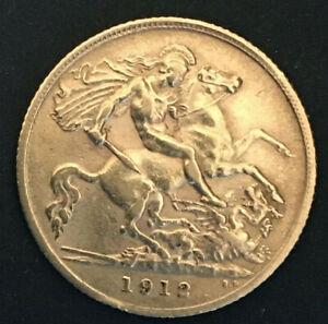 1912 king george v gold half sovereign