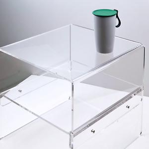Art Modern Coffee Table, Rainbow Side Table 【Iridescent / Clear Acrylic Style】