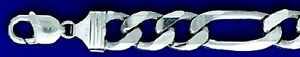 Heavy Figaro 13 mm Sterling Silver Chain & Bracelets  .925 Pure Silver