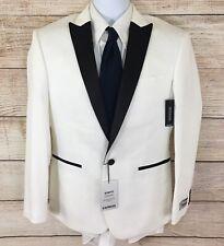 NWT Express Mens White 1 Button Photographer Slim Fit Tuxedo Jacket 38S