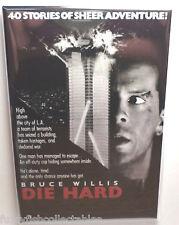 """Die Hard Movie Poster 2"""" x 3"""" Refrigerator Locker MAGNET Willis"""