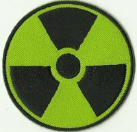 ECUSSON PATCHE PATCH THERMOCOLLANT SYMBOLE RADIOACTIVITE RADIOACTIF NUCLEAIRE
