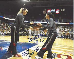 STEFANIE DOLSON BRIA HARTLEY Signed WNBA 8 x 10 Photo UCONN HUSKIES Basketball