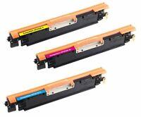 3Pk 130A CF350A Color Toner Cartridge For HP Laserjet M176n M177fw Pro MFP M275
