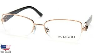 Brand NEW BVLGARI 2157-B 376 GOLD EYEGLASSES Frame 55-17-135 B36 mm Italy