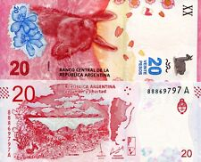 ARGENTINA 20 Pesos Banknote Paper Money World UNC Currency BILL p-New 2017 Bill