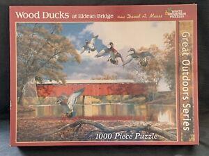 White Mountain Jigsaw Puzzle-Wood Ducks At Eldean Bridge-New In Box