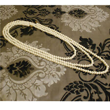 Girls Ladies Long Pearl Necklace Faux Rope String Beaded Chain Fresh Water 150cm