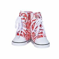 18 inch Doll Printed Hightops Sneakers Red