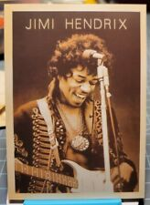 Jimi Hendrix & Guitar Concert Photo Vintage Repro Postcard