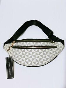 Designer Inspired Fanny Pack Belt Waist Bag Checkered Faux Leather Bag Unisex