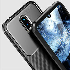 For Nokia 4.2, Luxury Shockproof Carbon Fiber Ultra Soft TPU Rubber Case Cover